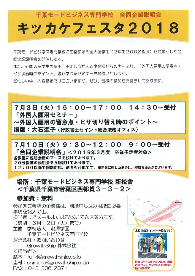 キッカケフェスタ2018夏