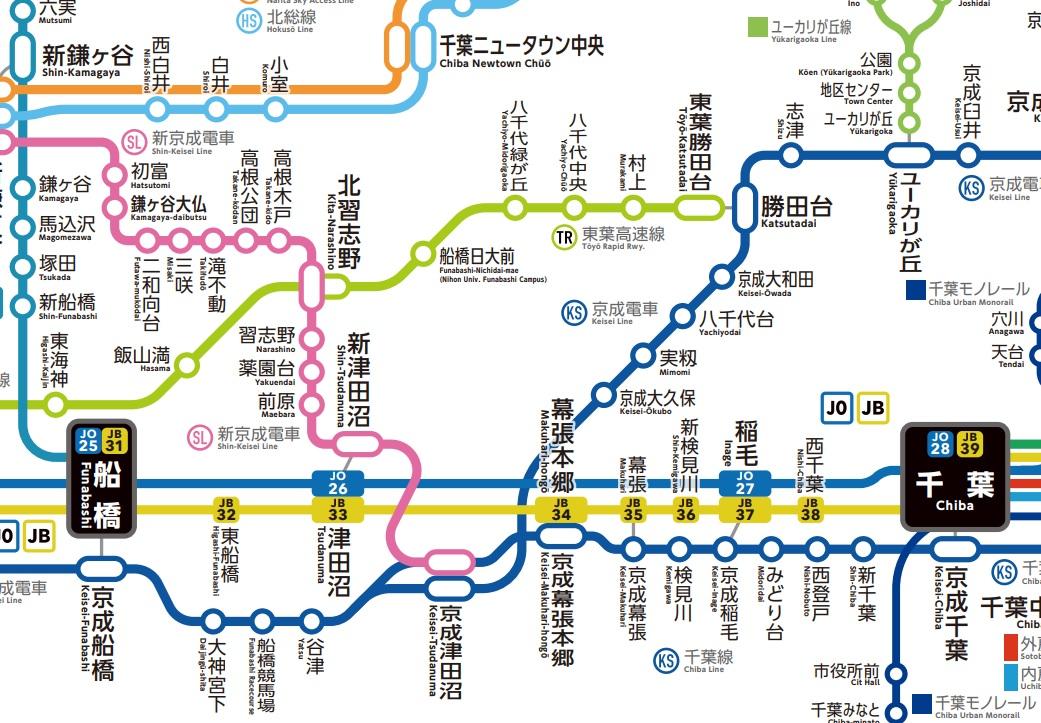 津田沼路線図